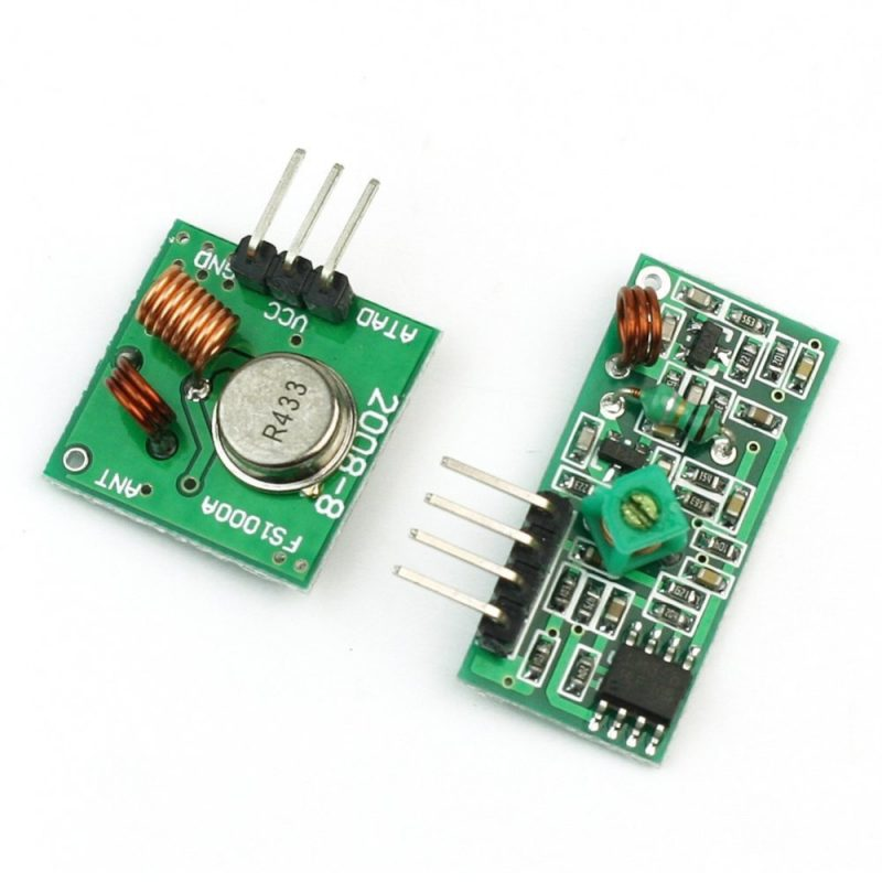 433MHz RF Wireless Transmitter & Receiver Module Pair