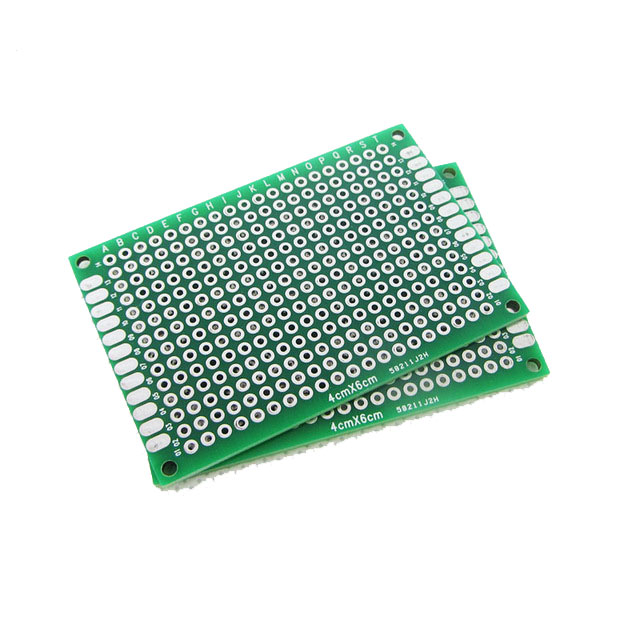 double sided copper prototype perforated circuit board 4cm x 6cm rh inventelectronics com